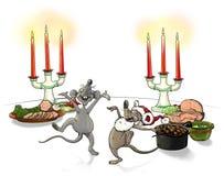 Ποντίκια Χριστουγέννων Στοκ φωτογραφία με δικαίωμα ελεύθερης χρήσης