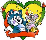 ποντίκι γατών νευρικό πολύ Στοκ εικόνα με δικαίωμα ελεύθερης χρήσης