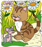 ποντίκι γατών Στοκ εικόνα με δικαίωμα ελεύθερης χρήσης