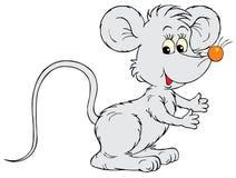Ποντίκι (διανυσματική συνδετήρας-τέχνη) διανυσματική απεικόνιση