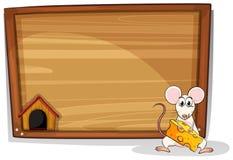 Ποντίκι και πίνακας Στοκ Φωτογραφία