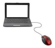 Ποντίκι και σημειωματάριο υπολογιστών στοκ φωτογραφία με δικαίωμα ελεύθερης χρήσης