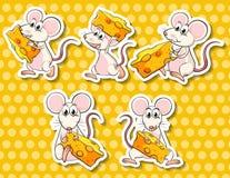 Ποντίκι και τυρί Στοκ φωτογραφία με δικαίωμα ελεύθερης χρήσης