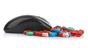 Ποντίκι και χάπια Στοκ Φωτογραφία