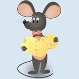 Ποντίκι με την καρδιά τυριών Απεικόνιση αποθεμάτων