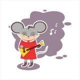 Ποντίκι με την κιθάρα Στοκ φωτογραφία με δικαίωμα ελεύθερης χρήσης