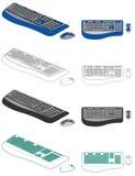 ποντίκι πληκτρολογίων υπ Στοκ φωτογραφίες με δικαίωμα ελεύθερης χρήσης