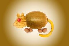 Ποντίκι, που γίνεται από τα φρούτα και λαχανικά Στοκ εικόνα με δικαίωμα ελεύθερης χρήσης