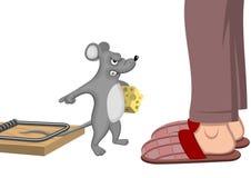 ποντίκι που παγιδεύεται Στοκ Φωτογραφίες