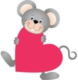 Ποντίκι στην καρδιά που διαμορφώνεται Στοκ εικόνα με δικαίωμα ελεύθερης χρήσης
