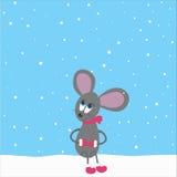 Ποντίκι στο χιόνι Στοκ φωτογραφία με δικαίωμα ελεύθερης χρήσης