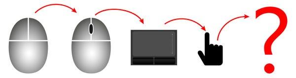 Ποντίκι υπολογιστών εξέλιξης απεικόνιση αποθεμάτων