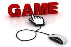 Ποντίκι υπολογιστών και το παιχνίδι λέξης διανυσματική απεικόνιση