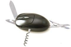ποντίκι υπολογιστών multitask στοκ εικόνα