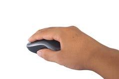 Ποντίκι χεριών και υπολογιστών Στοκ Εικόνα