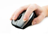 ποντίκι χεριών υπολογιστών Στοκ Φωτογραφία