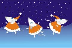 ποντίκι χορού Χριστουγένν& Στοκ Εικόνες