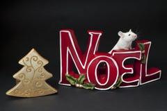 ποντίκι Χριστουγέννων Στοκ Εικόνες