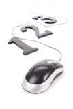 ποντίκι 123 υπολογιστών Στοκ Εικόνες