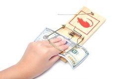 ποντικοπαγήδα χρημάτων χε& Στοκ εικόνες με δικαίωμα ελεύθερης χρήσης