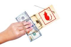ποντικοπαγήδα χρημάτων χε& Στοκ Εικόνες