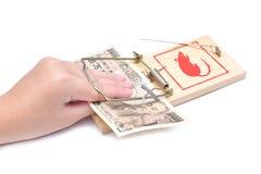 ποντικοπαγήδα χρημάτων χε& Στοκ φωτογραφία με δικαίωμα ελεύθερης χρήσης