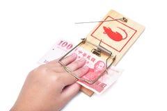 ποντικοπαγήδα χρημάτων χε& Στοκ εικόνα με δικαίωμα ελεύθερης χρήσης