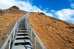Πορεία επάνω στο νησί Bartolome Στοκ φωτογραφία με δικαίωμα ελεύθερης χρήσης