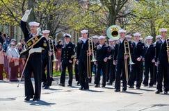 Πορεία ζωνών Αμερικανικού Ναυτικό Στοκ εικόνες με δικαίωμα ελεύθερης χρήσης
