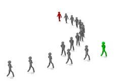 Πορεία ηγετών ελεύθερη απεικόνιση δικαιώματος