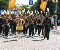 Πορεία μουσικών ορχηστρών Στοκ Φωτογραφία
