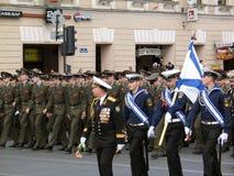 Πορεία ναυτικών και στρατιωτικών Στοκ Εικόνες