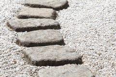 Πορεία πετρών της Zen Στοκ Φωτογραφία