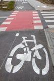 Πορεία ποδηλάτων και στις δύο κατευθύνσεις στοκ φωτογραφία με δικαίωμα ελεύθερης χρήσης