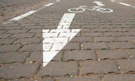 Πορεία ποδηλάτων με την επικείμενη κυκλοφορία στοκ φωτογραφίες