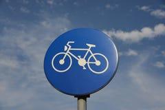 Πορεία ποδηλάτων σημαδιών κυκλοφορίας Στοκ φωτογραφία με δικαίωμα ελεύθερης χρήσης