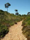 Πορεία ποδιών στη Μαγιόρκα cala marmols στοκ εικόνες