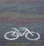 Πορεία ποδηλάτων από μια πέτρα μωσαϊκών Στοκ Εικόνες