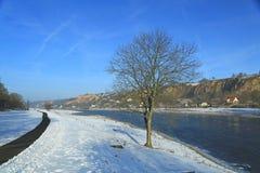 Πορεία ποδηλάτων το χειμώνα Στοκ εικόνες με δικαίωμα ελεύθερης χρήσης