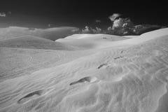 Πορεία προσκυνητών μέσω των αμμόλοφων άμμου Στοκ Εικόνες