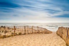 Πορεία στην όμορφη παραλία, Lacanau, Γαλλία στοκ φωτογραφίες με δικαίωμα ελεύθερης χρήσης