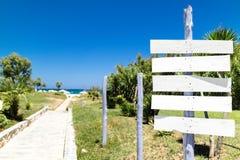 Πορεία στη θάλασσα στο θέρετρο στοκ φωτογραφία με δικαίωμα ελεύθερης χρήσης