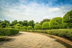 πορεία στον κήπο της Ταϊλάνδης Στοκ Εικόνες