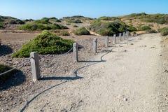 Πορεία στο φυσικό πάρκο Menorcan Στοκ Εικόνες