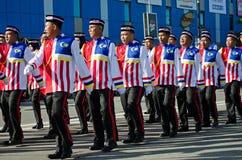 Πορεία της παρέλασης κατά τη διάρκεια της ημέρας της ανεξαρτησίας της Μαλαισίας ` s Στοκ φωτογραφία με δικαίωμα ελεύθερης χρήσης