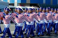 Πορεία της παρέλασης κατά τη διάρκεια της ημέρας της ανεξαρτησίας της Μαλαισίας ` s Στοκ Φωτογραφία