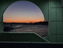 Πορθμεία στη Ιστανμπούλ στην ανατολή Στοκ φωτογραφία με δικαίωμα ελεύθερης χρήσης
