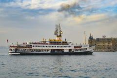 Πορθμείο γραμμών πόλεων της Ιστανμπούλ Στοκ φωτογραφίες με δικαίωμα ελεύθερης χρήσης