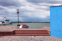 πορθμείο γύρω από το νησί Burano Στοκ φωτογραφία με δικαίωμα ελεύθερης χρήσης