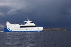 Πορθμείο επιβατών στη λίμνη Titicaca στη Βολιβία Στοκ εικόνες με δικαίωμα ελεύθερης χρήσης